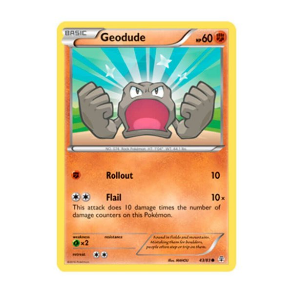Pokémon TCG: Geodude (43/83) - Gerações