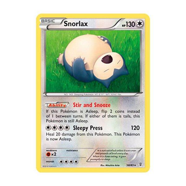 Pokémon TCG: Snorlax (58/83) - Gerações