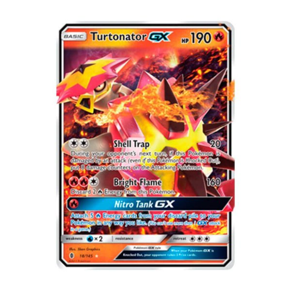 Pokémon TCG: Turtonator GX (18/145) - SM2 Guardiões Ascendentes