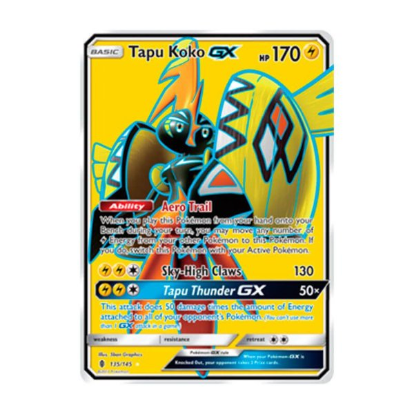 Pokémon TCG: Tapu Koko GX (135/145) - SM2 Guardiões Ascendentes