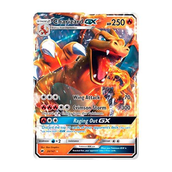 Pokémon TCG: Charizard GX (20/147) - SM3 Sombras Ardentes