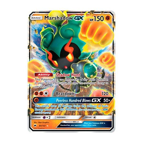 Pokémon TCG: Marshadow GX (80/147) - SM3 Sombras Ardentes