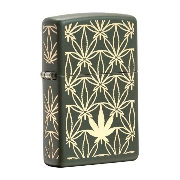 Isqueiro Zippo 29589 Classic Weed Pattern Verde