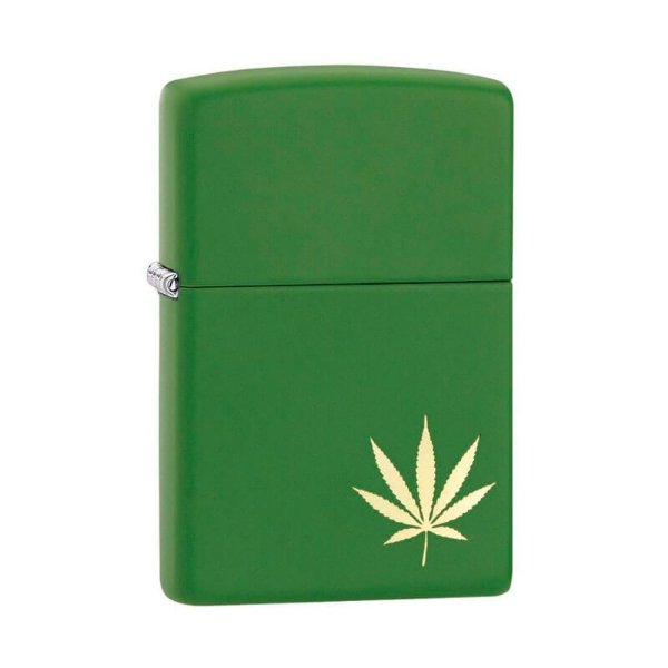 Isqueiro Zippo 29588 Classic Marijuana Verde Musgo