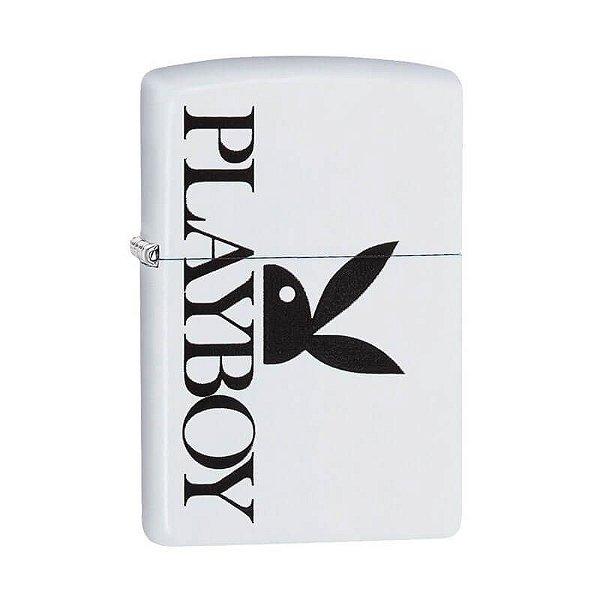 Isqueiro Zippo 29579 Classic Lateral Bunny Playboy Branco