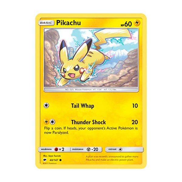 Pokémon TCG: Pikachu (40/147) - SM3 Sombras Ardentes