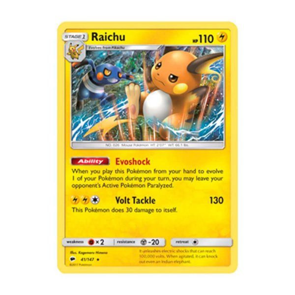 Pokémon TCG: Raichu (41/147) - SM3 Sombras Ardentes