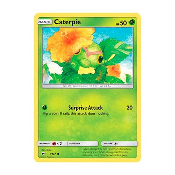 Pokémon TCG: Caterpie (1/147) - SM3 Sombras Ardentes