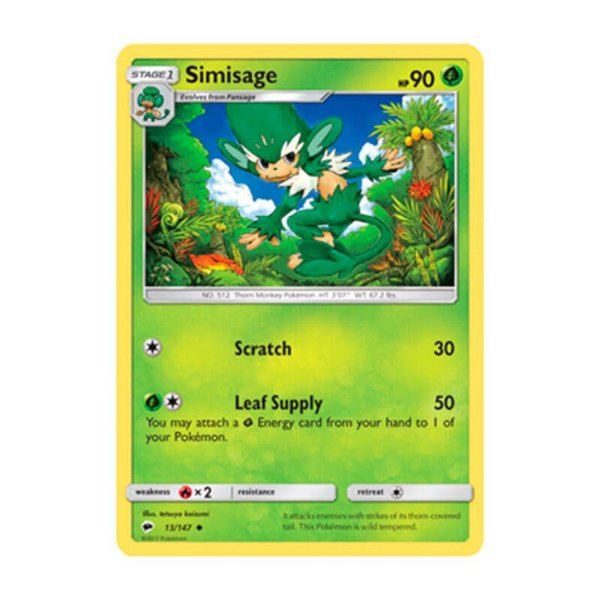 Pokémon TCG: Simisage (13/147) - SM3 Sombras Ardentes