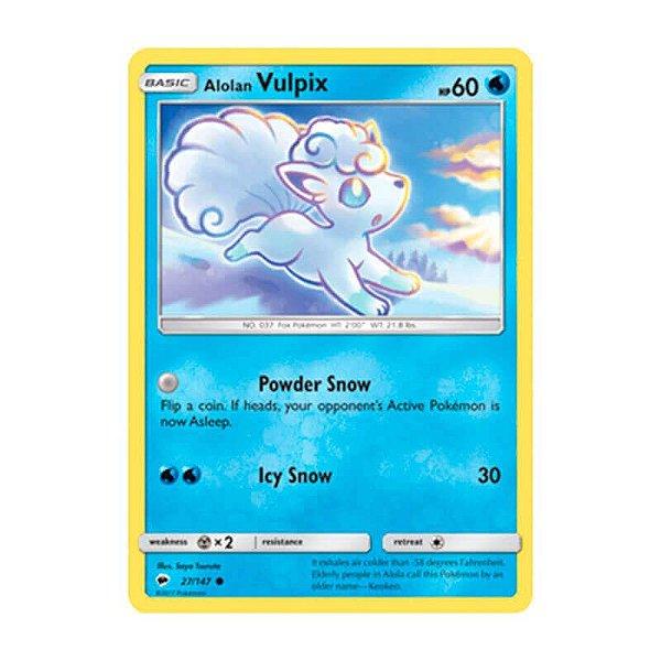 Pokémon TCG: Vulpix de Alola (27/147) - SM3 Sombras Ardentes
