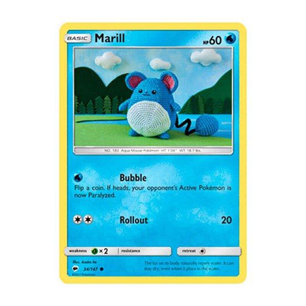 Pokémon TCG: Marill (34/147) - SM3 Sombras Ardentes