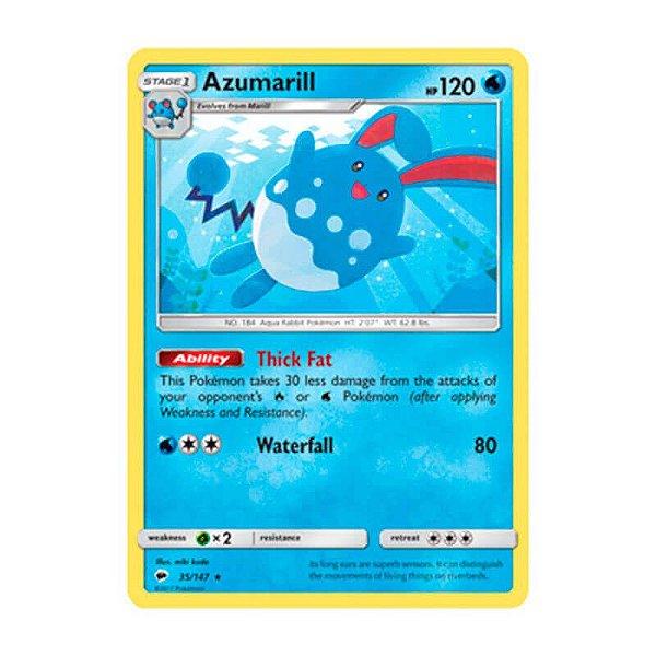 Pokémon TCG: Azumarill (35/147) - SM3 Sombras Ardentes