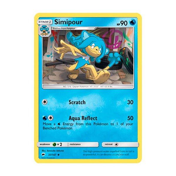 Pokémon TCG: Simipour (37/147) - SM3 Sombras Ardentes