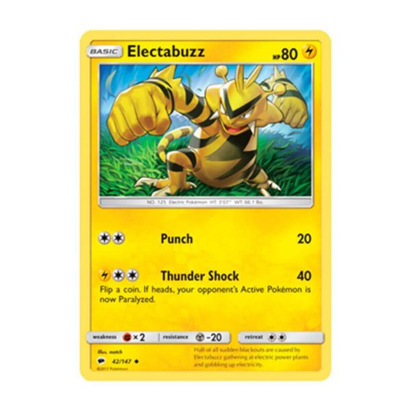 Pokémon TCG: Electabuzz (42/147) - SM3 Sombras Ardentes