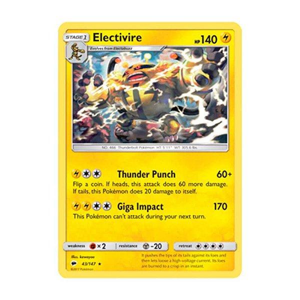 Pokémon TCG: Electivire (43/147) - SM3 Sombras Ardentes