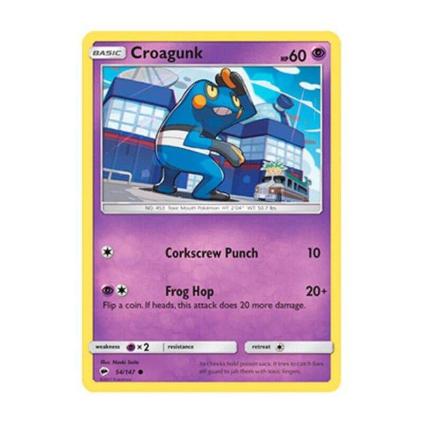 Pokémon TCG: Croagunk (54/147) - SM3 Sombras Ardentes