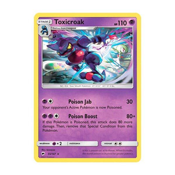 Pokémon TCG: Toxicroak (55/147) - SM3 Sombras Ardentes