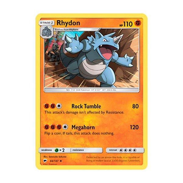 Pokémon TCG: Rhydon (66/147) - SM3 Sombras Ardentes