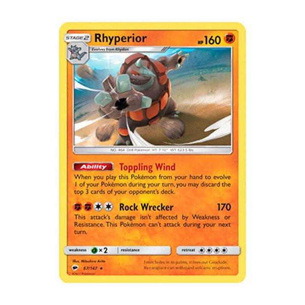 Pokémon TCG: Rhyperior (67/147) - SM3 Sombras Ardentes