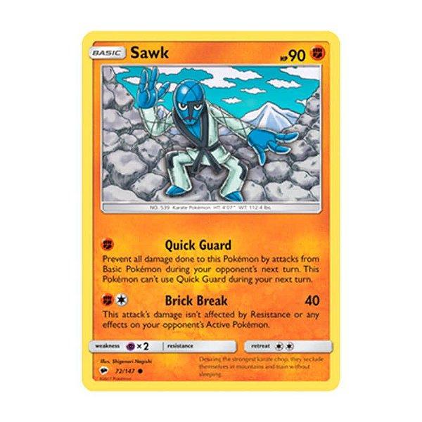 Pokémon TCG: Sawk (72/147) - SM3 Sombras Ardentes