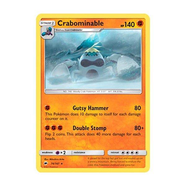 Pokémon TCG: Crabominable (74/147) - SM3 Sombras Ardentes