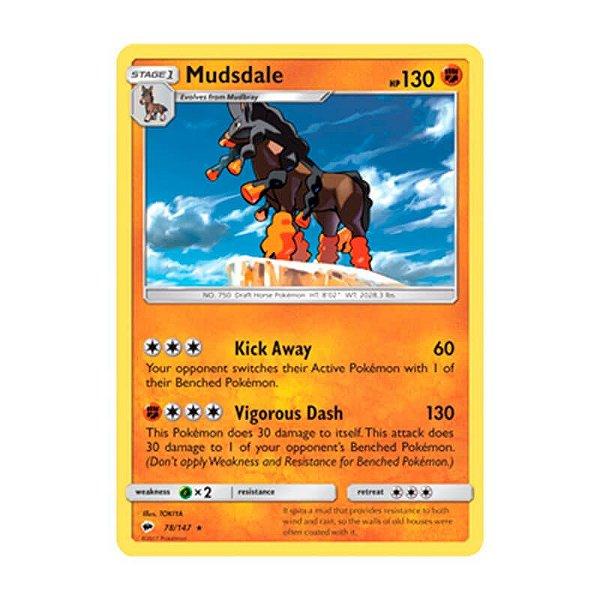 Pokémon TCG: Mudsdale (78/147) - SM3 Sombras Ardentes