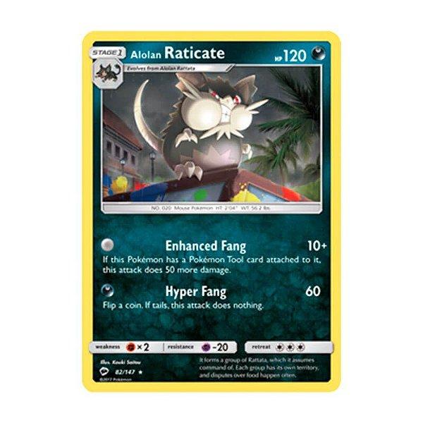 Pokémon TCG: Raticate de Alola (82/147) - SM3 Sombras Ardentes