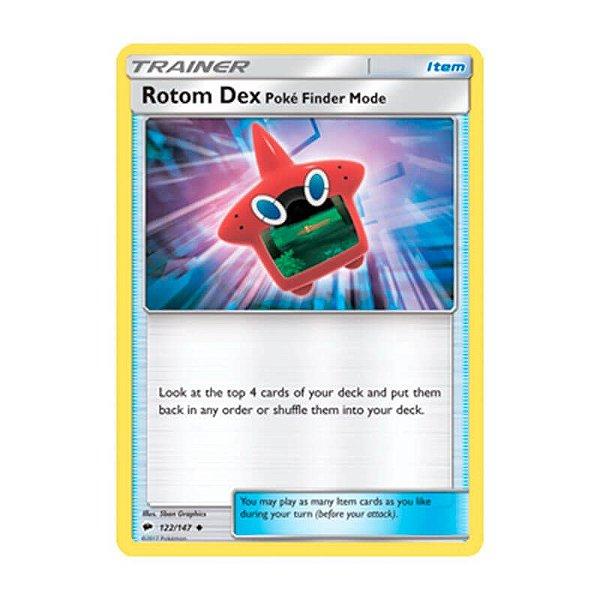 Pokémon TCG: Pokédex Rotom Modo Pokévisor (122/147) - SM3 Sombras Ardentes