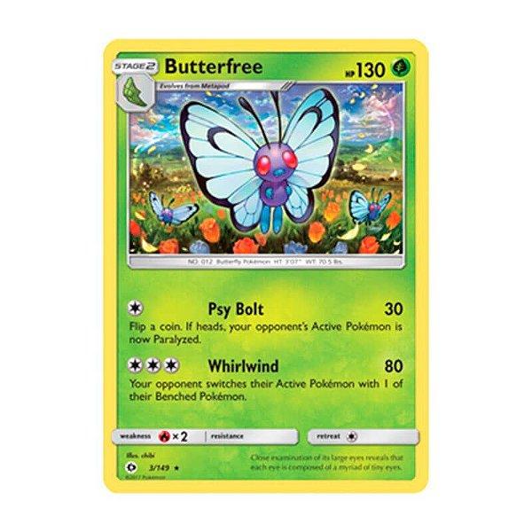 Pokémon TCG: Butterfree (3/149) - SM1 Sol e Lua