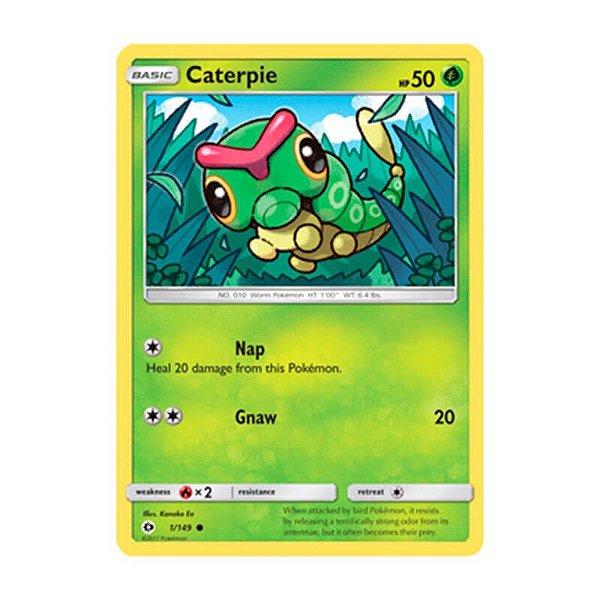 Pokémon TCG: Caterpie (1/149) - SM1 Sol e Lua