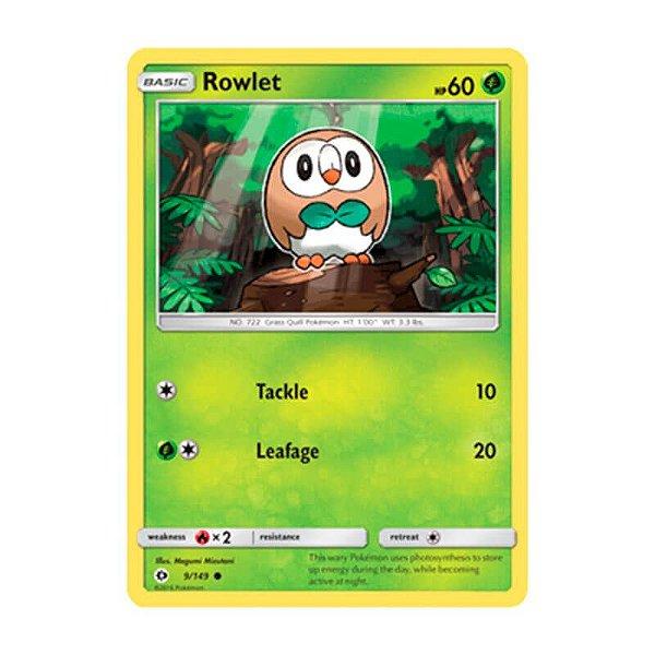 Pokémon TCG: Rowlet (9/149) - SM1 Sol e Lua