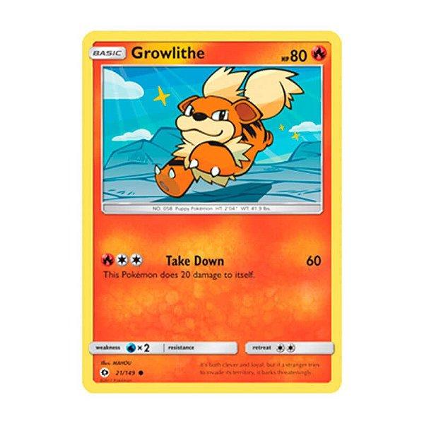 Pokémon TCG: Growlithe (21/149) - SM1 Sol e Lua