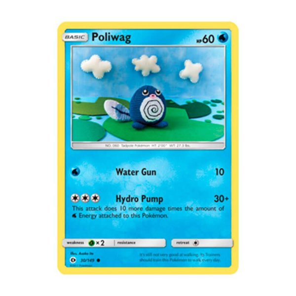 Pokémon TCG: Poliwag (30/149) - SM1 Sol e Lua