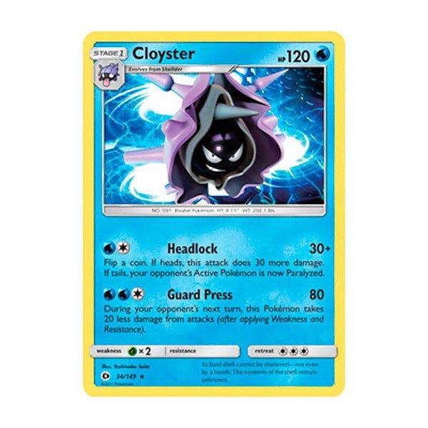 Pokémon TCG: Cloyster (34/149) - SM1 Sol e Lua
