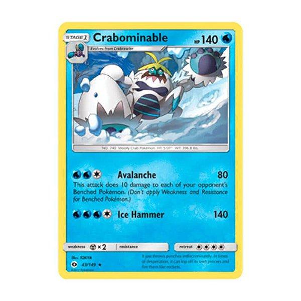 Pokémon TCG: Crabominable (43/149) - SM1 Sol e Lua
