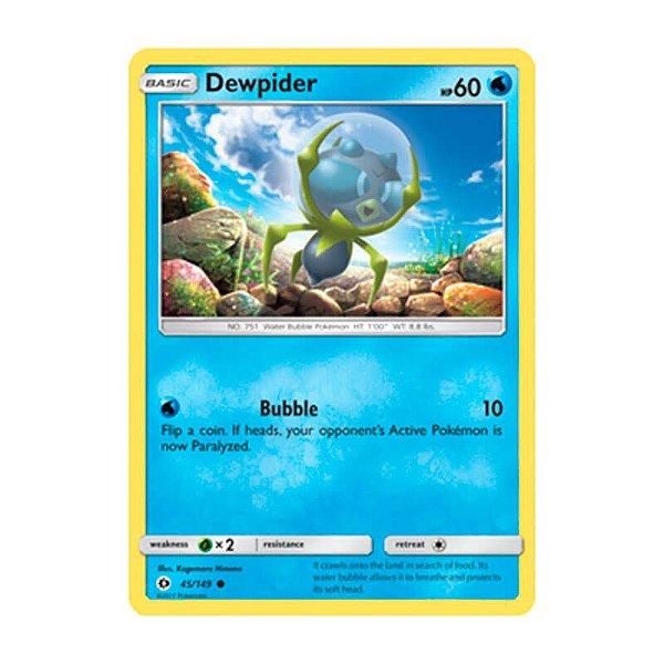 Pokémon TCG: Dewpider (45/149) - SM1 Sol e Lua