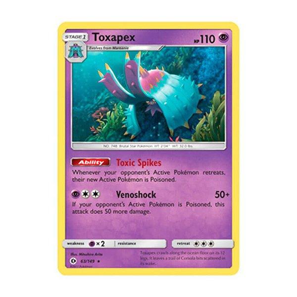Pokémon TCG: Toxapex (63/149) - SM1 Sol e Lua