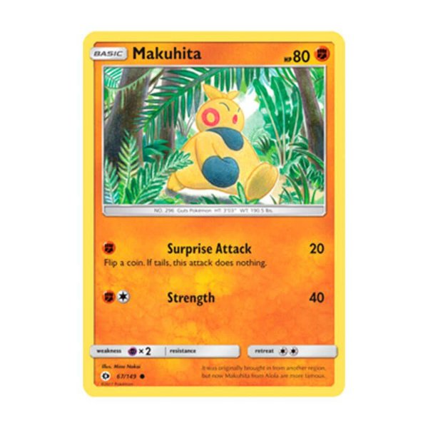 Pokémon TCG: Makuhita (67/149) - SM1 Sol e Lua