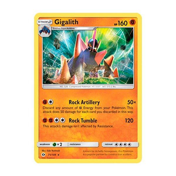 Pokémon TCG: Gigalith (71/149) - SM1 Sol e Lua