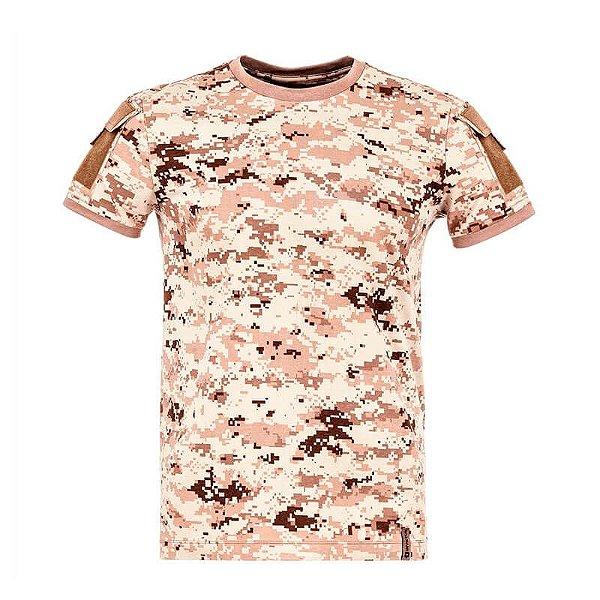 Camiseta Tática Camuflada Army Digital Deserto Invictus