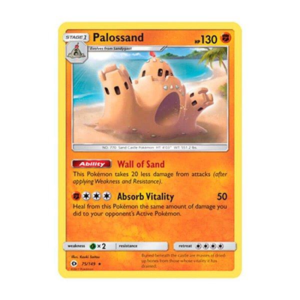 Pokémon TCG: Palossand (75/149) - SM1 Sol e Lua