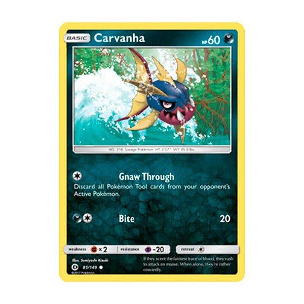 Pokémon TCG: Carvanha (81/149) - SM1 Sol e Lua