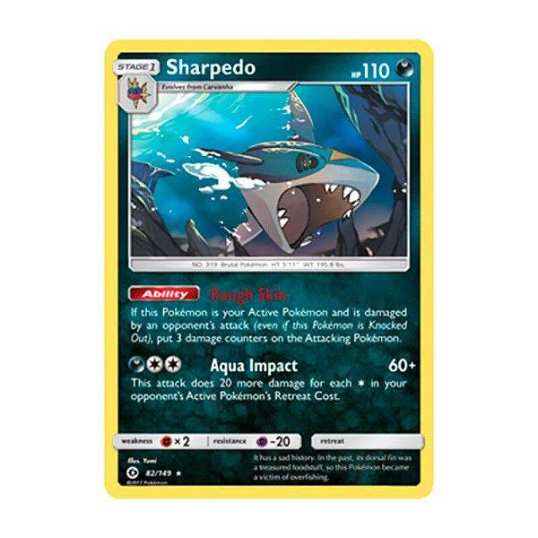 Pokémon TCG: Sharpedo (82/149) - SM1 Sol e Lua