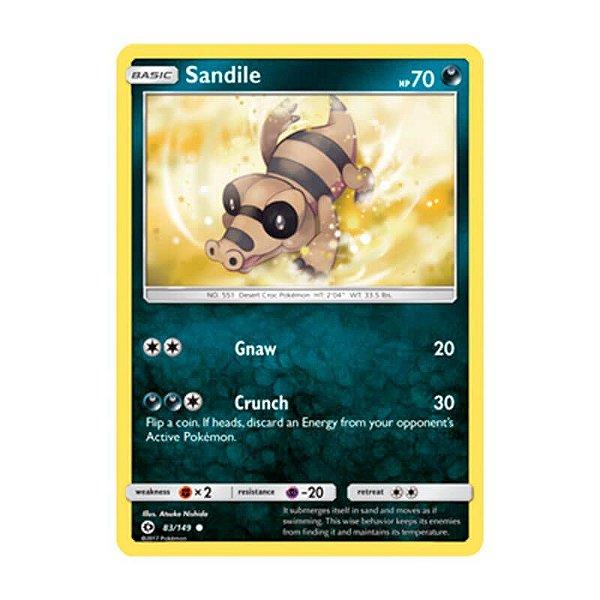 Pokémon TCG: Sandile (83/149) - SM1 Sol e Lua