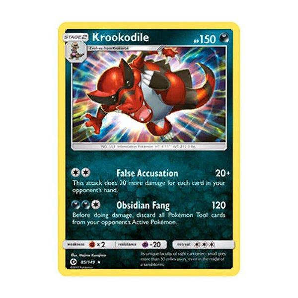 Pokémon TCG: Krookodile (85/149) - SM1 Sol e Lua