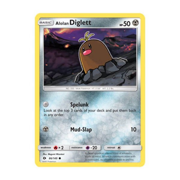 Pokémon TCG: Diglett de Alola (86/149) - SM1 Sol e Lua