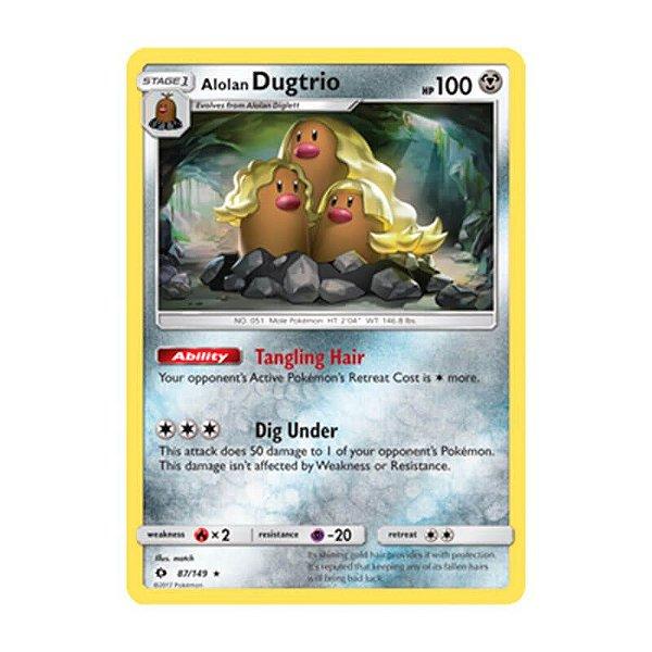 Pokémon TCG: Dugtrio de Alola (87/149) - SM1 Sol e Lua