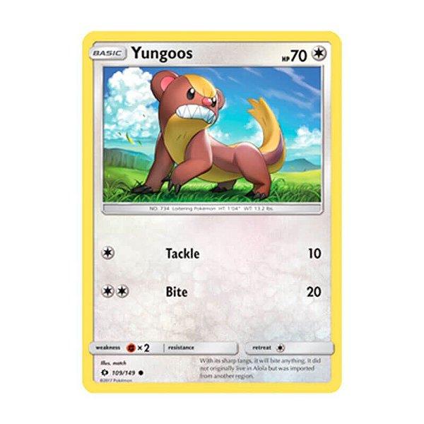 Pokémon TCG: Yungoos (109/149) - SM1 Sol e Lua