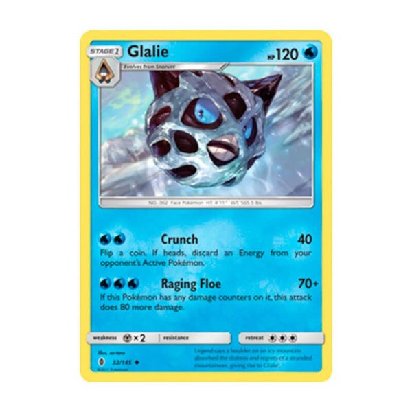 Pokémon TCG: Glalie (32/145) - SM2 Guardiões Ascendentes