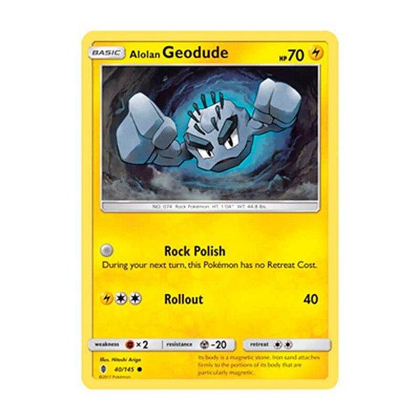 Pokémon TCG: Geodude de Alola (40/145) - SM2 Guardiões Ascendentes